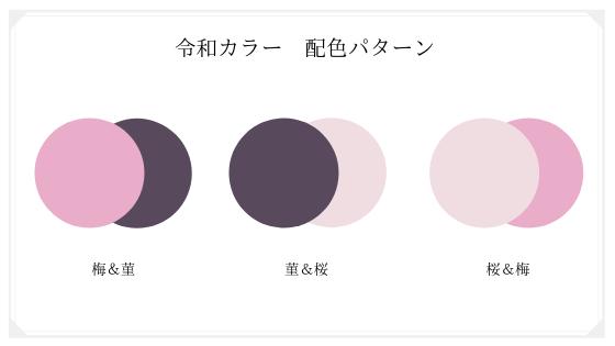 令和カラーの配色パターン